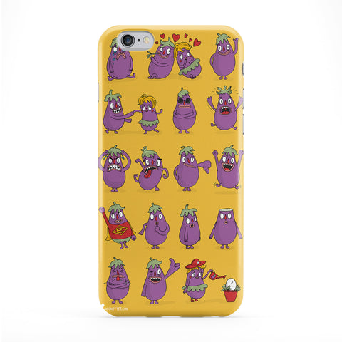 Mr Eggplant Phone Case by Miki Mottes