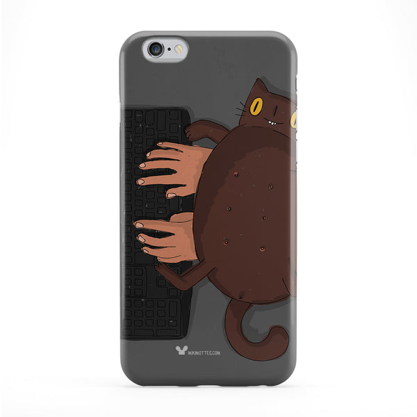 Cat Keyboard Full Wrap Protective Phone Case by Miki Mottes