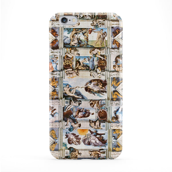 Cappella Sistina Ceiling by Michelangelo Full Wrap Protective Phone Case by Painting Masterpieces
