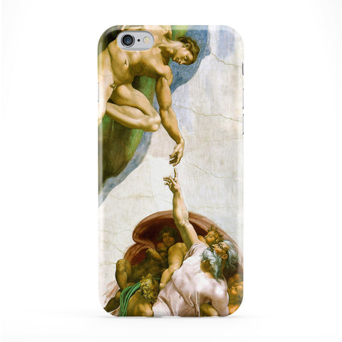 Creation of Adam by Michelangelo Full Wrap Protective Phone Case by Painting Masterpieces