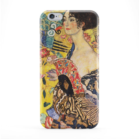 Dame mit Facher by Gustav Klimt Full Wrap Protective Phone Case by Painting Masterpieces