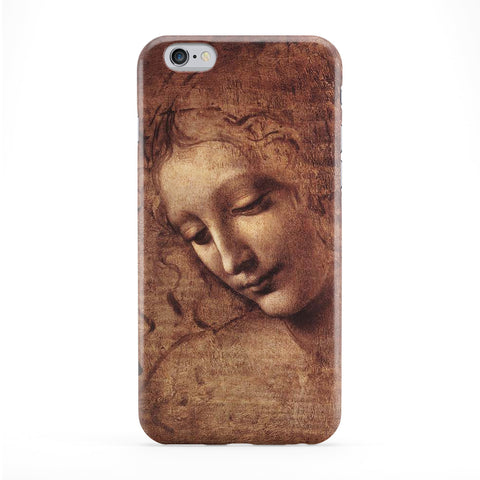 Female head - La Scapigliata by Leonardo da Vinci Full Wrap Protective Phone Case by Painting Masterpieces
