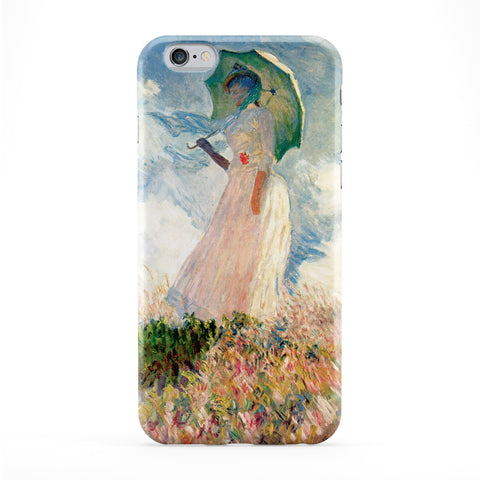 Girl with Umbrealla by Claude Monet Full Wrap Protective Phone Case by Painting Masterpieces