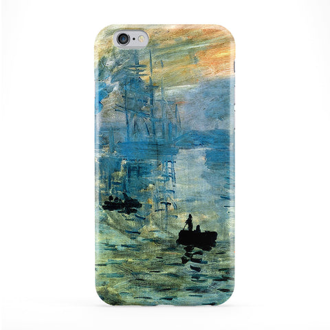Impression soleil levant by Claude Monet Full Wrap Protective Phone Case by Painting Masterpieces