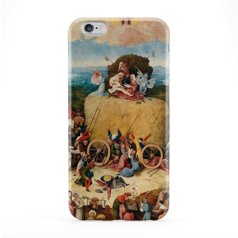 The Hay Wain by Hieronymus Bosch Full Wrap Protective Phone Case by Painting Masterpieces