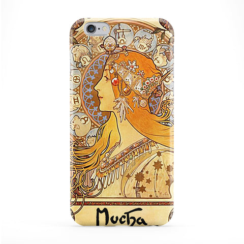 Zodiac by Alphonse Maria Mucha Phone Case by Painting Masterpieces