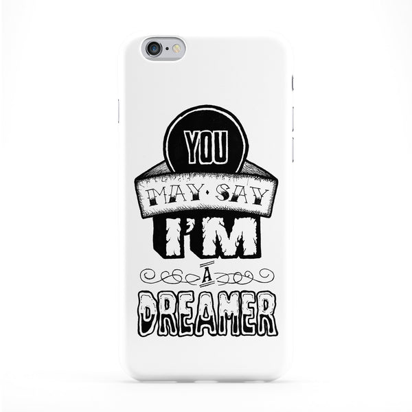 Dreamer Plain Full Wrap Protective Phone Case by Max Duff