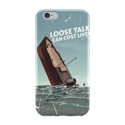 Vintage War Poster - Loose Talk Full Wrap Protective Phone Case by Nick Greenaway