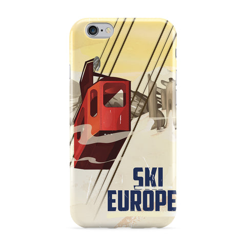 Ski Europe Full Wrap Protective Phone Case by Nick Greenaway