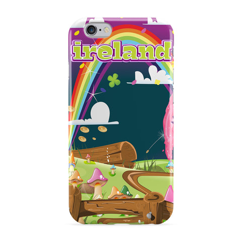 Ireland Travel Poster Cartoon Landscape Phone Case by Nick Greenaway