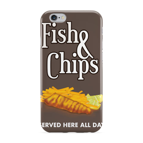 Fish And Chips Commercial Full Wrap Protective Phone Case by Nick Greenaway