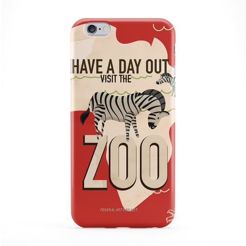 Zoo - Zebra Full Wrap Protective Phone Case by Nick Greenaway
