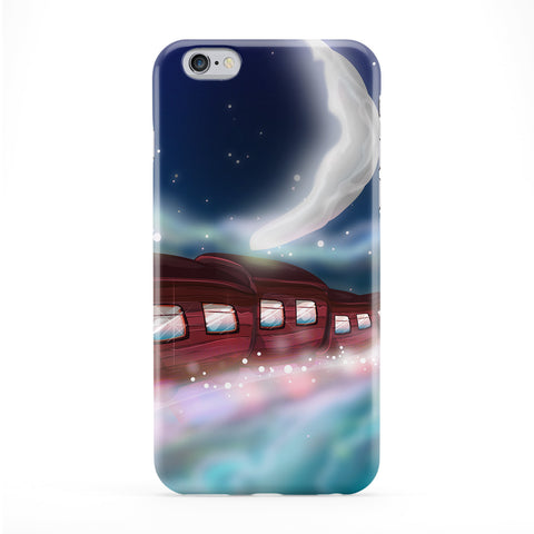 Trip to the Moon Full Wrap Protective Phone Case by Nick Greenaway