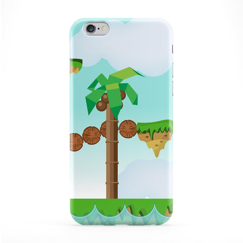 Retro Platform Game Full Wrap Protective Phone Case by Nick Greenaway