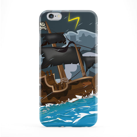 Pirate Ship in a storm Full Wrap Protective Phone Case by Nick Greenaway