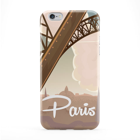 Paris poster Full Wrap Protective Phone Case by Nick Greenaway