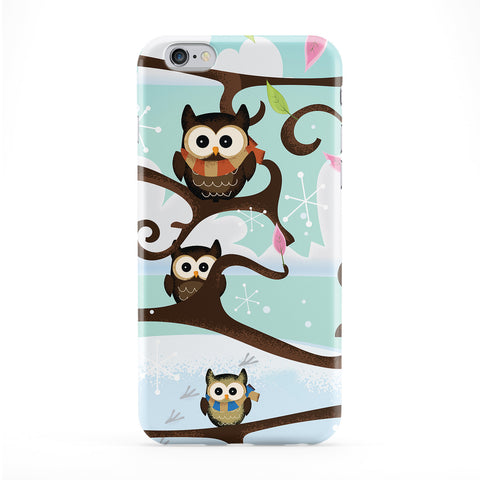 Owls Full Wrap Protective Phone Case by Nick Greenaway