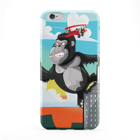 King Kong Full Wrap Protective Phone Case by Nick Greenaway