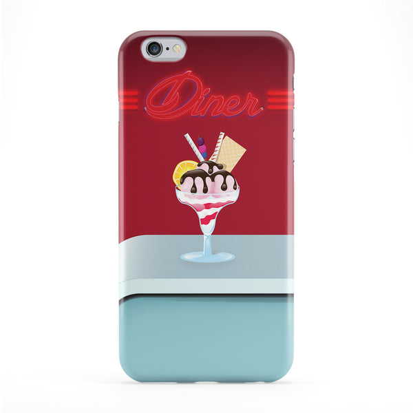 Ice Cream Diner Full Wrap Protective Phone Case by Nick Greenaway