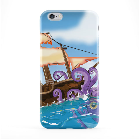 Giant Squid Attack Phone Case by Nick Greenaway