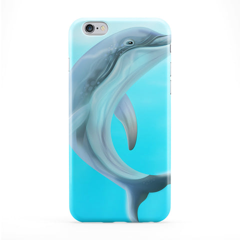 Dolphin Full Wrap Protective Phone Case by Nick Greenaway