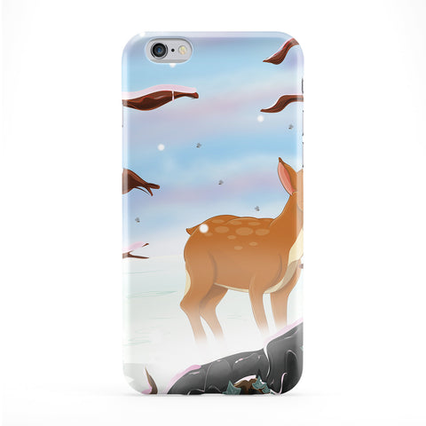 Deer in the Snow Phone Case by Nick Greenaway