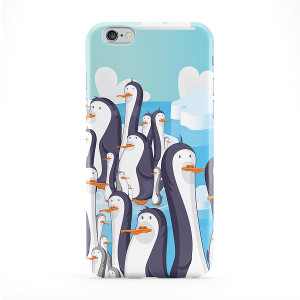 Cheeky Penguins Full Wrap Protective Phone Case by Nick Greenaway