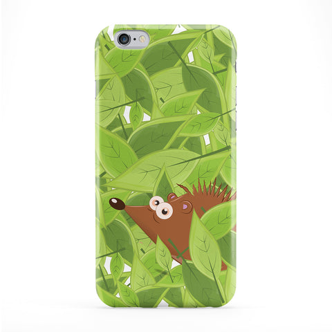 Cheeky Hedgehog Full Wrap Protective Phone Case by Nick Greenaway