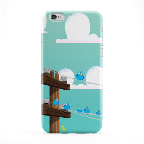 Birds on a wire Full Wrap Protective Phone Case by Nick Greenaway