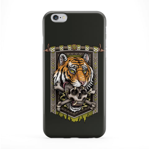 Tiger Skull Banner Phone Case by Sam Phillips