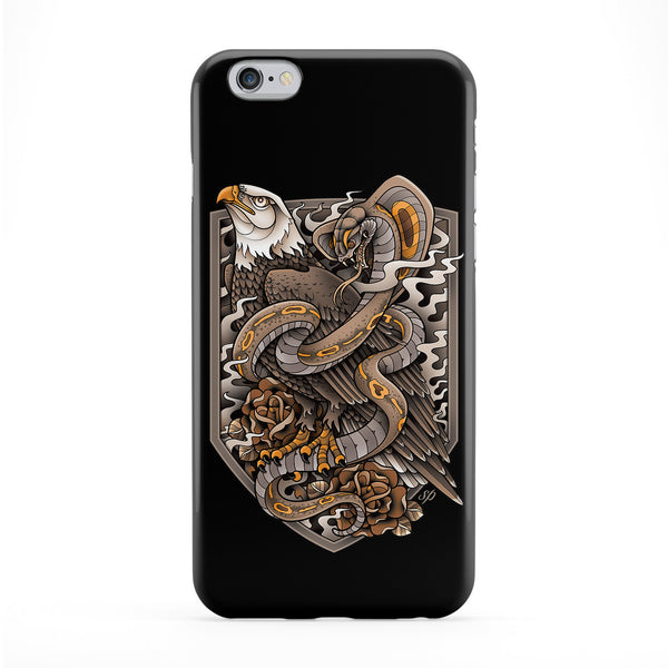 Eagle Snake Full Wrap Protective Phone Case by Sam Phillips