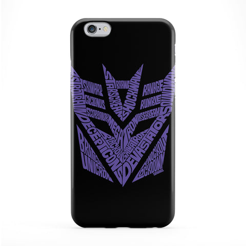 Transformers Decepticons Full Wrap Protective Phone Case by Sean Williams