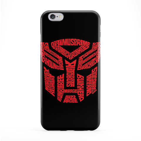 Transformers Autobots Full Wrap Protective Phone Case by Sean Williams