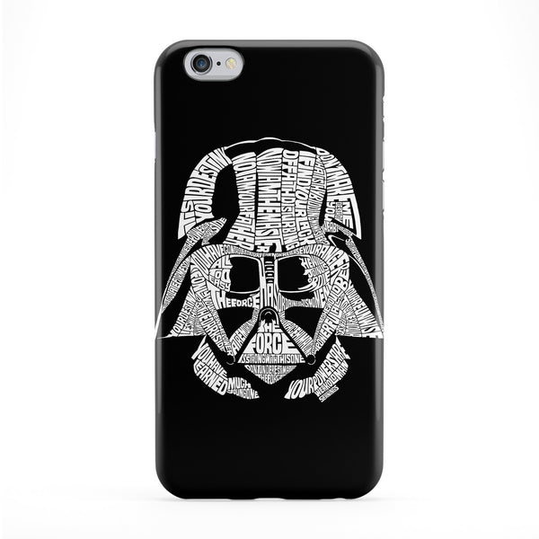 Darth Vader White Full Wrap Protective Phone Case by Sean Williams