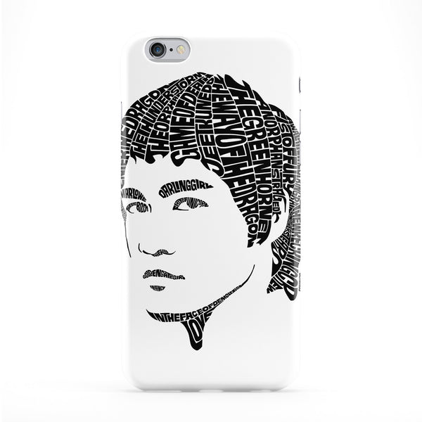 Bruce Lee Full Wrap Protective Phone Case by Sean Williams