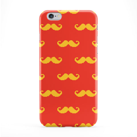 Pixel Moustache Yellow Phone Case by Tom Pearson