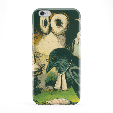 Owl Crow Vintage Retro Phone Case by Tom Pearson