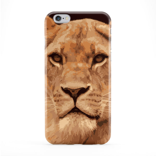 Lion Portrait Full Wrap Protective Phone Case by Tom Pearson