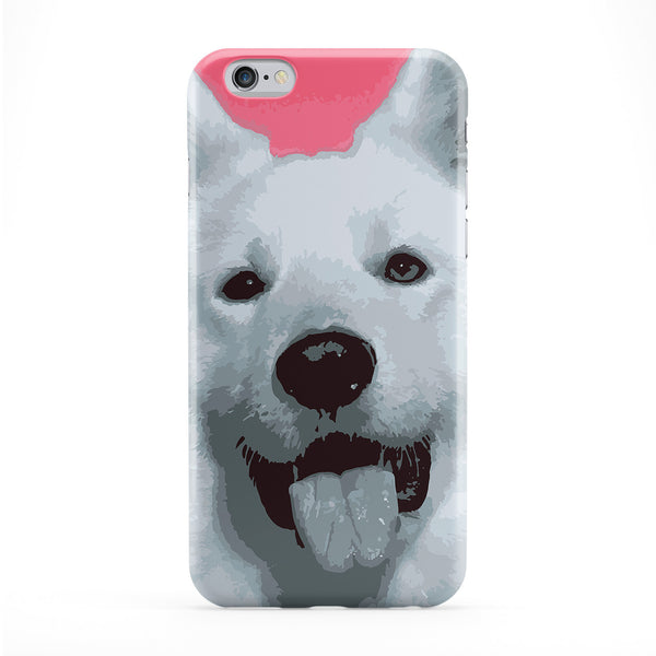 Huskie Dog Full Wrap Protective Phone Case by Tom Pearson