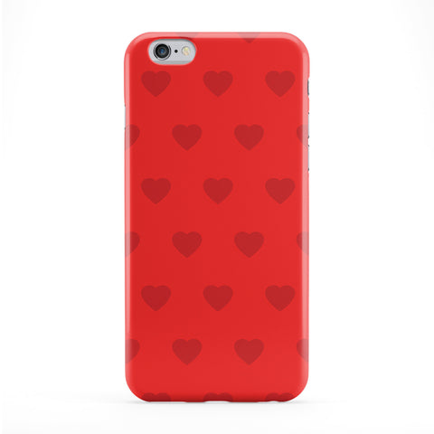 Heart Pattern Red Full Wrap Protective Phone Case by Tom Pearson