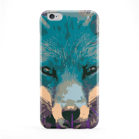 Fox Face Full Wrap Protective Phone Case by Tom Pearson