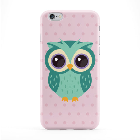 Cute Teal Owl Full Wrap Protective Phone Case by Tom Pearson