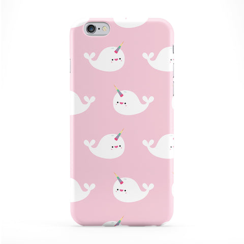 Cute Narwhal Pattern Full Wrap Protective Phone Case by Tom Pearson