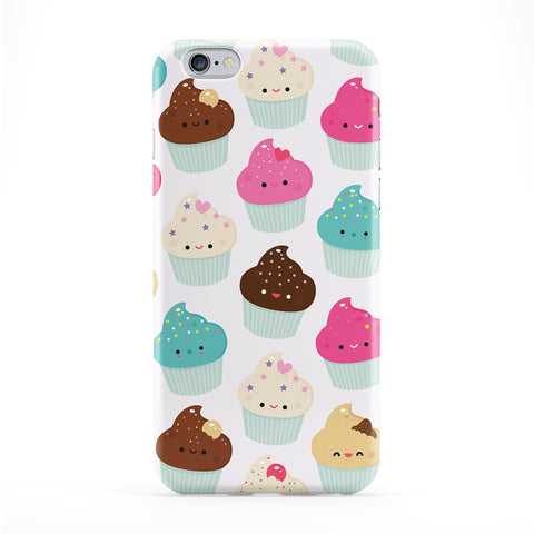 Cute Kawaii Cupcake Pattern Full Wrap Protective Phone Case by Tom Pearson