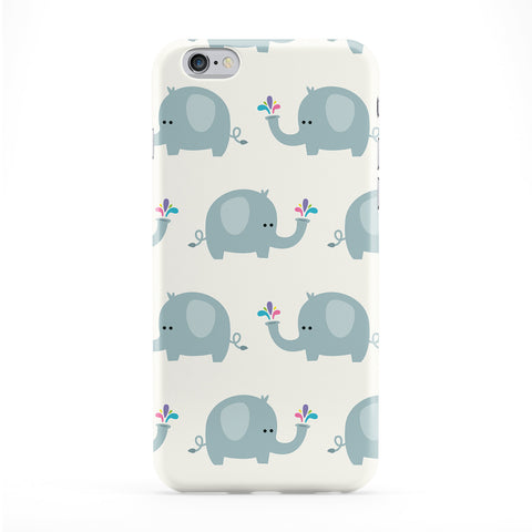 Cute Elephant Pattern Full Wrap Protective Phone Case by Tom Pearson