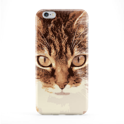 Cute Cat Full Wrap Protective Phone Case by Tom Pearson