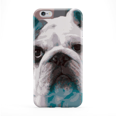 Cute Bulldog Full Wrap Protective Phone Case by Tom Pearson