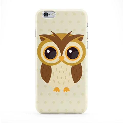 Cute Brown Owl Full Wrap Protective Phone Case by Tom Pearson