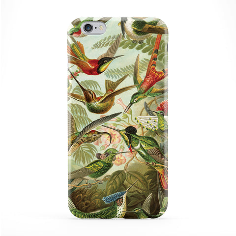 Birds Vintage Retro Illustration Full Wrap Protective Phone Case by Tom Pearson