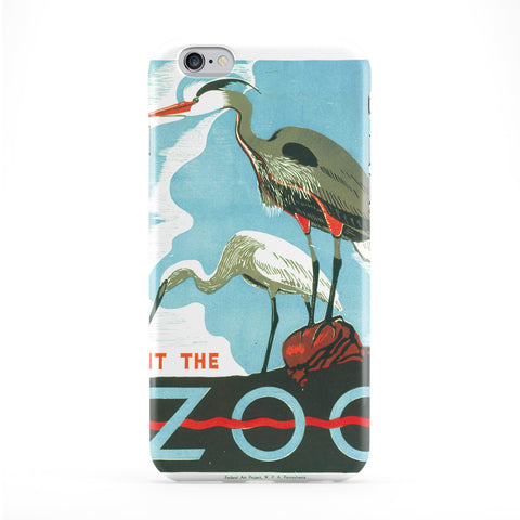 Bird Illustration Vintage Retro Poster Full Wrap Protective Phone Case by Tom Pearson